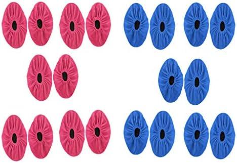滑り止め シューズカバー ブーツカバー 靴カバー 洗える フランネル 伸縮性 大人用 10ペアセット