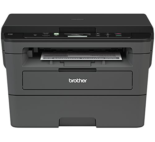 Brother Compact Monochrome Laser Printer, HLL2390DW, Convenient Flatbed Copy & Scan, Wireless Printing, Duplex Two-Sided Printing (Printer Desktop Copiers)