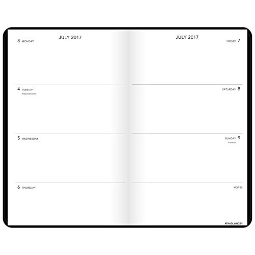 AT-A-GLANCE Academic Weekly / Monthly Academic Bookbound Planner, July 2017 - June 2018, 5
