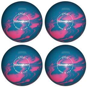 EPCO Duckpin Bowling ball- Marbleized – ライトブルー&ピンク – 4 Balls B075WSRFS7   4 3/4 inch- 3lbs. 8 oz.