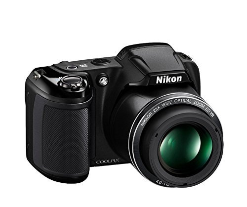 Nikon Coolpix L340 20 2 MP Digital Camera with 28x Optical Zoom and 3 0-Inch LCD (Black) (Certified Refurbished)の商品画像