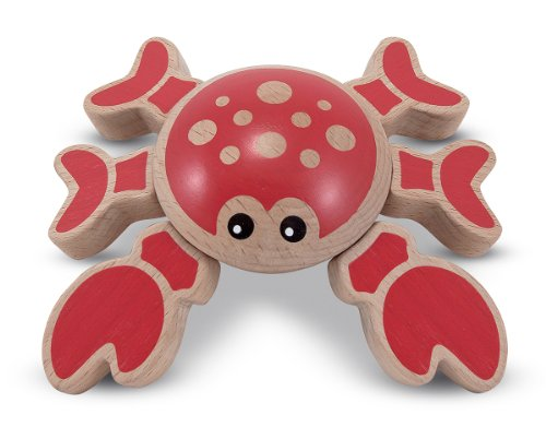 Melissa & Doug Twisting Crab Wooden Grasping Toy for Baby