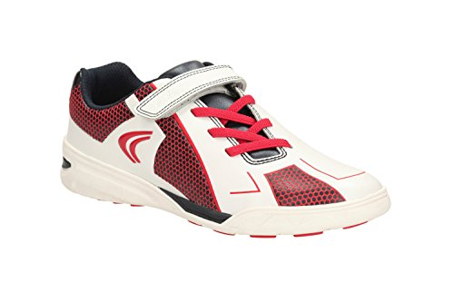 Clarks Award Leap Boys Trainers Jnr in Various Colours White Combi