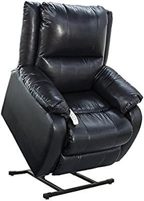 "NM-2650 (Sta-Kleen Vinyl-Royal Blue) Mega Motion Power Lift Recliner Chair.Weight Capacity: 375 lb. Suggested User Height: 5'6"" to 6'. Free Curbside Delivery."