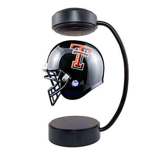 Texas Tech Red Raiders  NCAA Hover Helmet - Collectible Levitating Football Helmet with Electromagnetic Stand