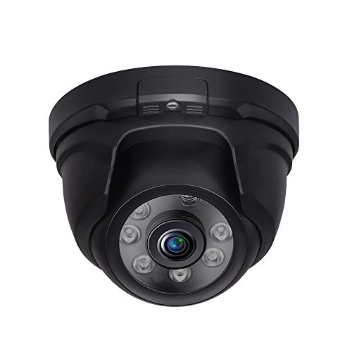 Tonton Full HD 1080P 2.0MP Indoor/Outdoor Dome Camera, Night Vision up to 60 ft, 6 PCS Infrared LED with IR Cut, Suitable for TVI/AHD Security Camera System and DVR Recorder(Black)