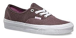 Vans Unisex Authentic (C&C) Skate Shoe (8.0 D(M) US Mens/ 9.5 B(M) US Womens, (Washed 2-Tone) Pink/True White)