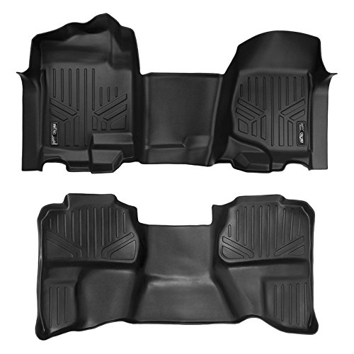 - MAX LINER A0296/B0097 MAXFLOORMAT Floor Mats for Silverado/Sierra 1500/2500/3500 (07-13) Extended Cab Complete Set 1pc Front Row (Black)