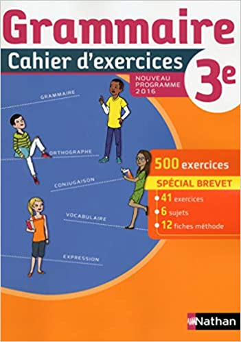 Amazon Fr Cahier De Grammaire 3e Cecile De Cazanove