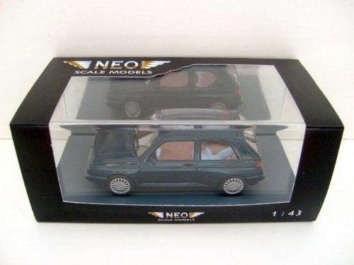 VW Rallye Golf, Metallic-dunkelgrün, 1990, Model Car,, Neo 1:43