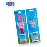DORLIONA Original New Peppa Pig George Watch Band Model Doll Action Figure with Milk Candy Birthday Gift Girl Children Toy for Christmas