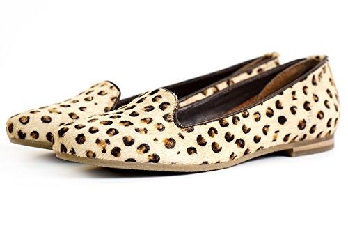 Aspele , Damen Mokassins Leopard