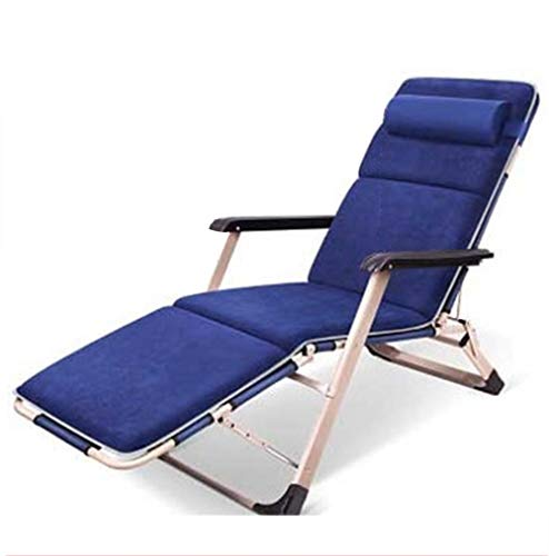 - FOTEE Zero Gravity Lounge Chair Outdoor, Folding Zero Gravity Chair Adjustable Camp Reclining Steel Structure Patio Lounge Support 250lbs,Blue_178x47x25cm