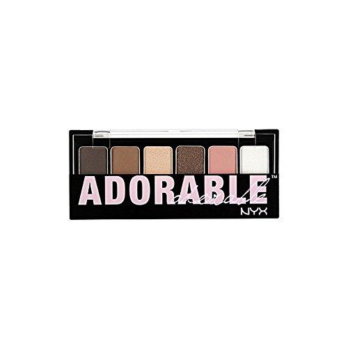 化粧品愛らしいシャドウパレット x4 - Nyx Cosmetics The Adorable Shadow Palette (Pack of 4) [並行輸入品] B072HJ7JYS