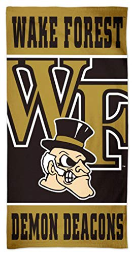 Wake Forest Demon Deacons Beach Towel with Premium Spectra Graphics, 30 x 60 inches - Ncaa Premium Golf Towel