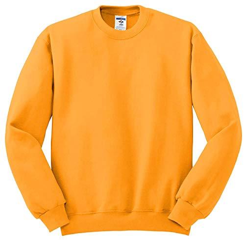 (Jerzees 562 Adult NuBlend Crew Neck Sweatshirt - Gold, XX-Large)