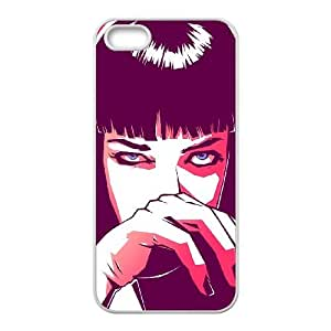 iPhone 5 5s Cell Phone Case White Pulp Fiction Mia SU4395274
