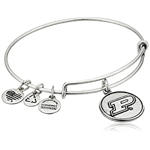 Alex and Ani Purdue University Logo Expandable Rafaelian Silver Bangle Bracelet