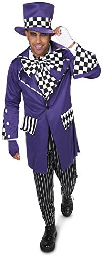 Black and Purple Gothic Mad Hatter Adult -