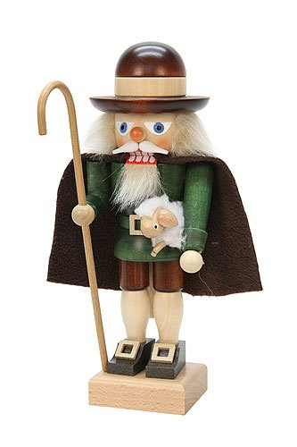 German Christmas Nutcracker Shepherd - 26cm / 10 inch - Christian Ulbricht by Authentic German Erzgebirge Handcraft (Image #1)