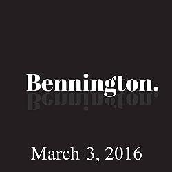 Bennington, March 3, 2016