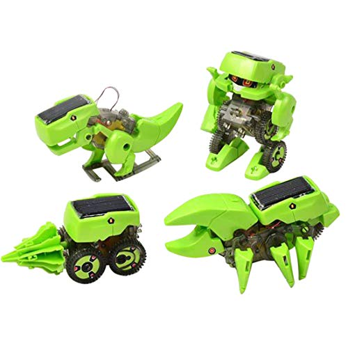 Lingxuinfo DIY 4-in-1 Robot Kit Educational Solar Robot Drilling Machine Dinosaur Insect Toy Kit for Kids Age 8+