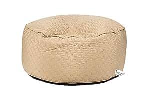 Amazon.com: Puff Pozitivo redondo 47 pulgadas, rayas gris ...