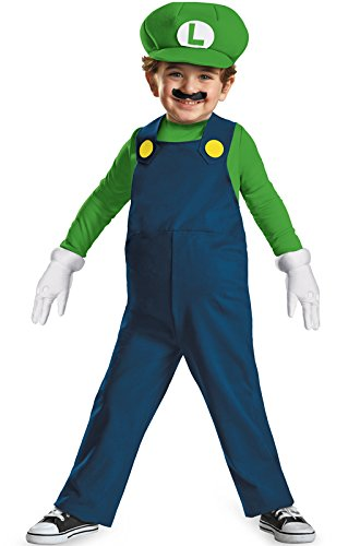 Nintendo Super Mario Brothers Luigi Boys Toddler Costume, -