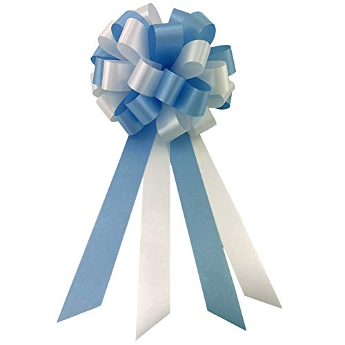 Bow Six Light - Light Blue and White Pull Bows - 8