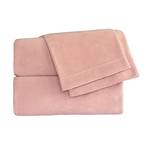 Cozy Fleece Latest Technology in Fleece. It is so Soft and Luxurious You Will not Want to get Out of Bed Includes: Two Pillowcases, one Fitted Microfleece Sheet Set