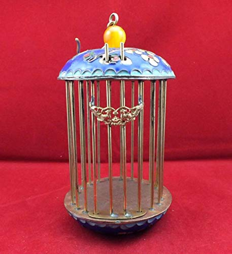 ZAMTAC Chinese Cloisonne Plum Flower Birds Cage ()