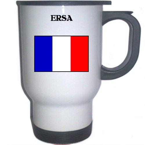 """France - """"ERSA"""" White Stainless Steel Mug"""