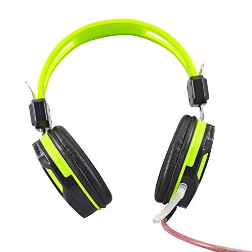 SWETFHD Wired Surround Sound Gaming Headphones, Microphone Earphone 3.5mm Connector for PC MAC PS4 Laptop