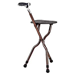 Amazon Com G Amp M Adjustable Folding Walking Cane Chair