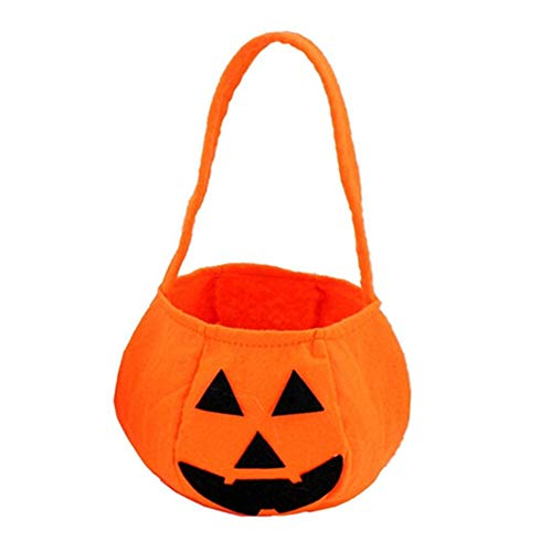 RG51TQ61b Candy Bags,Halloween Pumpkin Handbag Pouch Organizer,Non-Woven Gift Bag for Cookie,Cake,Chocolate,Candy,Snack Wrapping Good for Bakery Party B -