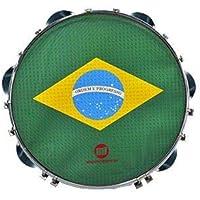 """Pandeiro Acrílico 10"""" Pele Estampada Brasil PHX 96A"""