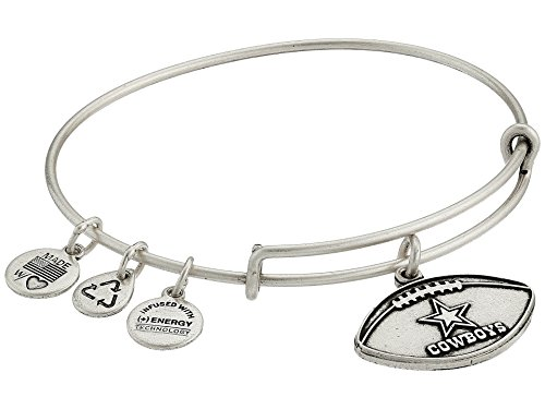 Alex and Ani Dallas Cowboys Football Expandable Rafaelian Silver Bangle Bracelet
