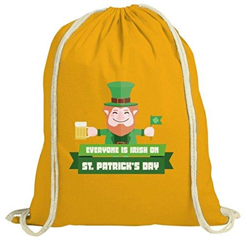 Saint Patricks Day St. Patricks Day natur Rucksack Turnbeutel mit Everyone Is Irish.Motiv Gelb Natur nyql8