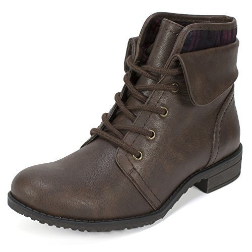 Brown by White Nadelle Combat Mountain Cliffs Boot Ankle Women's Cuffed qHU1xxdzw