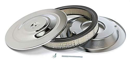 14' Chrome Air Cleaner - Trans-Dapt 2147 14'' Recessed Base Air Cleaner Set