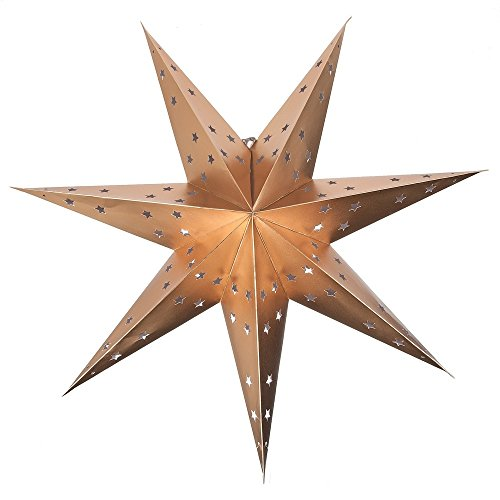 Midwest-CBK-22-Gold-Paper-Star-Hanging-Pendant-Shade