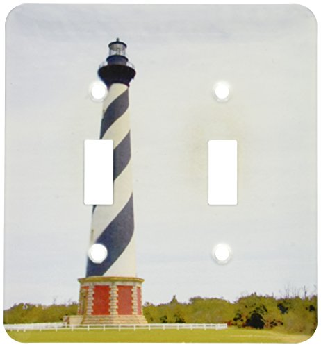 3dRose lsp_93246_2 Cape Hatteras Lighthouse in North Carolina Us34 Dfr0031 David R Frazier Light Switch - Carolina North Outlets In