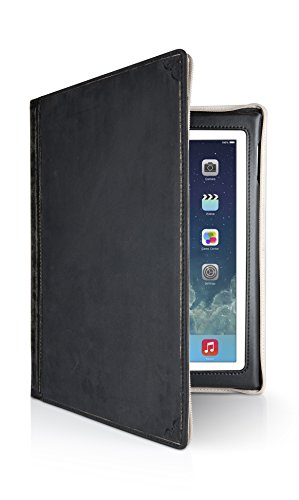 Twelve South 12-1209 BookBook for iPad, Black | Vintage Leather Book case for iPad (2nd, 3rd, and 4th gen.)