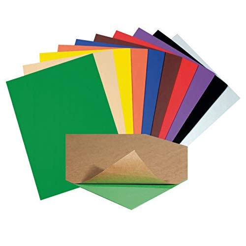 Creativity Street WonderFoam Peel & Stick Sheets, 9-inches x 12-inches, Assorted Colors, 20 Sheets (AC4309)