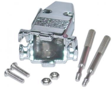 DB9 to HD15 Serial or VGA Metal Hood with Thumb Screws