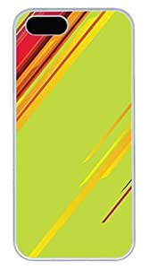 Abstract Colorful Lines Cover Case Skin for iPhone 4s Hard PC White