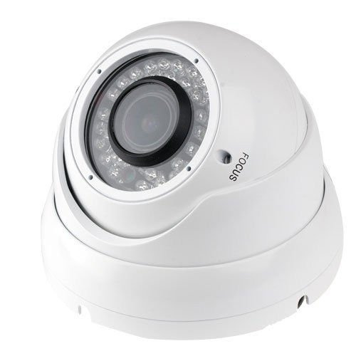"1/3"" Sony Sensor 1000TVL Dome Security Camera CCTV 720p HD Vandalproof IP66 Varifocal Lens 2.8-12mm White"