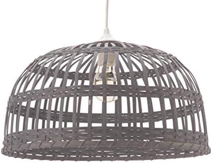Phuket, lámpara de techo de bambú, 60 W, gris, diámetro 60 x altura 33 cm: Amazon.es: Iluminación