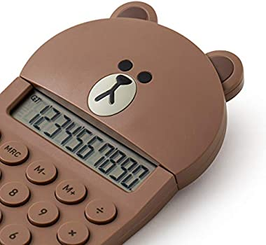 Line Friends Office Electornics Brown Character Basic Calculator