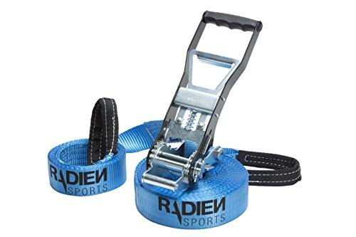 Radien Sports Slackline Set with Training Line, 50 Foot